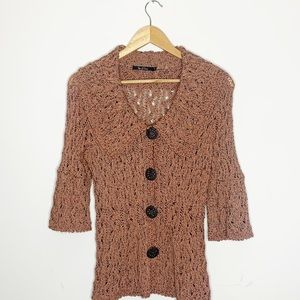 Nic + Zoe Vintage Inspired Cardigan Size Small